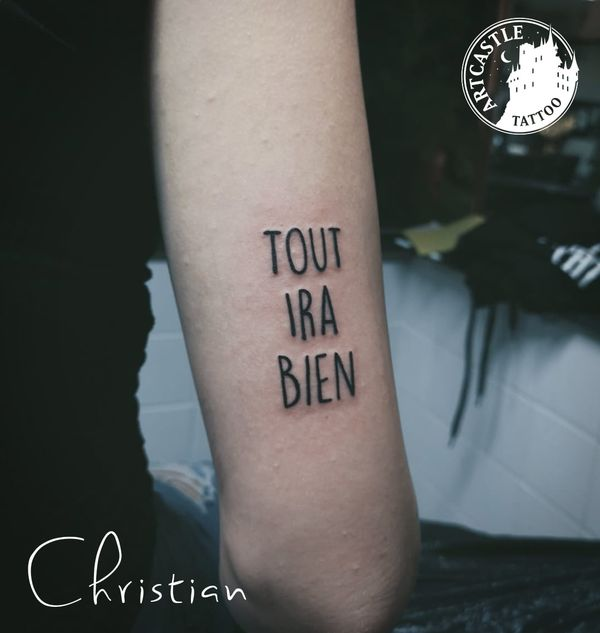 ArtCastleTattoo Tattoo ArtiestChristian upper arm Lettering