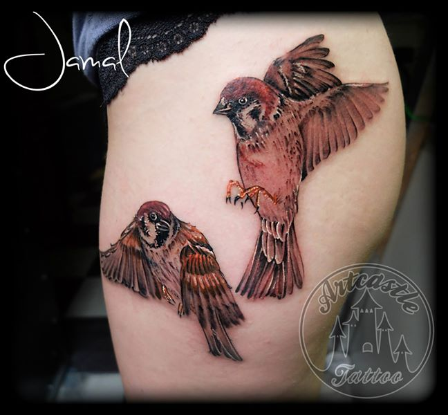 ArtCastleTattoo Tattoo ArtiestJamal Birds Color