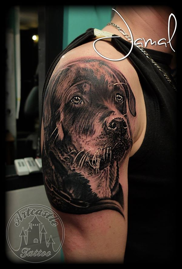 ArtCastleTattoo Tattoo ArtiestJamal Dog Portraits