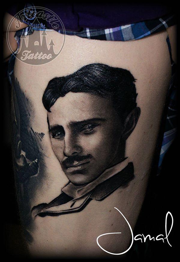 ArtCastleTattoo Tattoo ArtiestJamal Nikola Tesla Portraits
