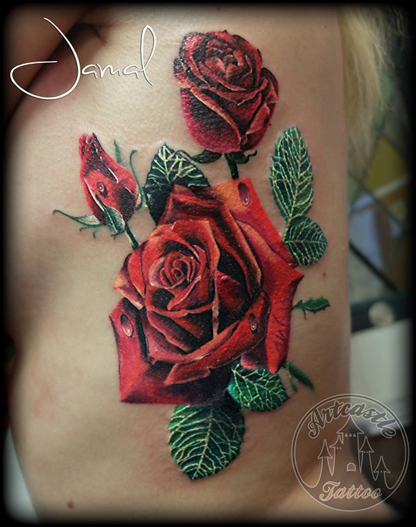 ArtCastleTattoo Tattoo ArtiestJamal Roses Color