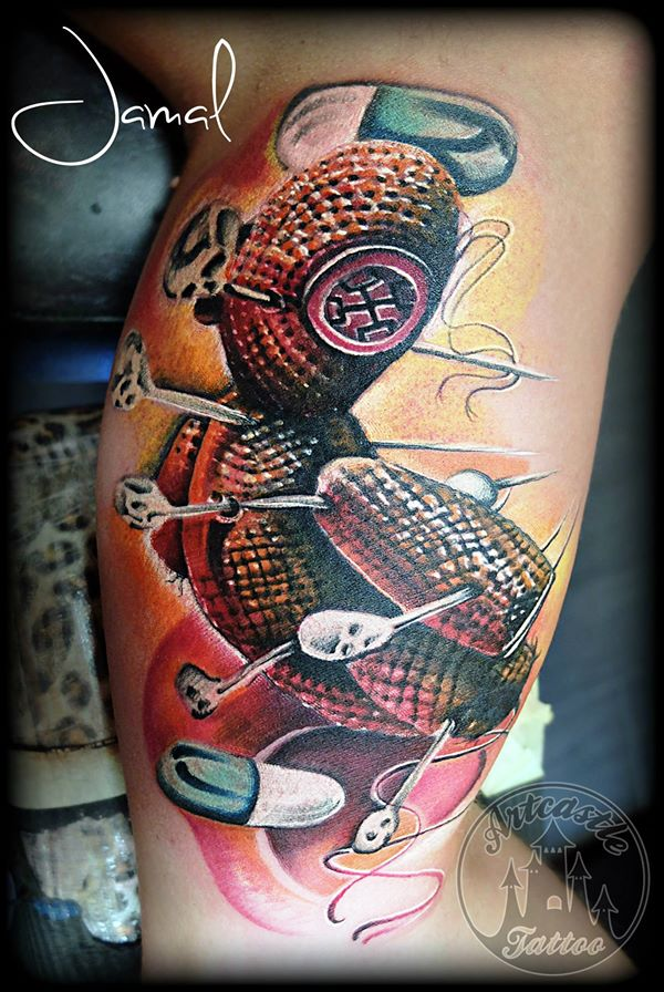 ArtCastleTattoo Tattoo ArtiestJamal Voodoo Doll Color