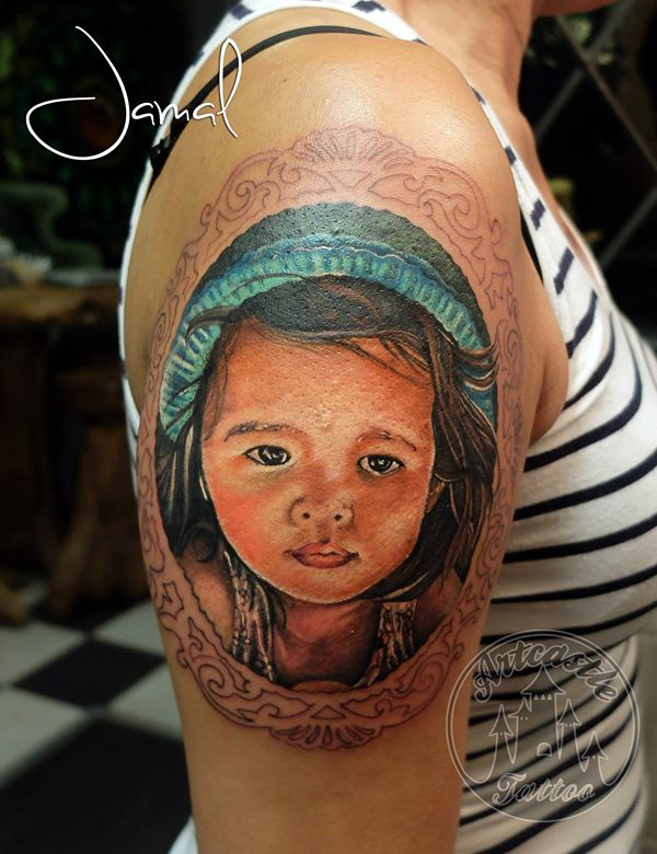 ArtCastleTattoo Tattoo ArtiestJamal Work in progress. In full color Portraits