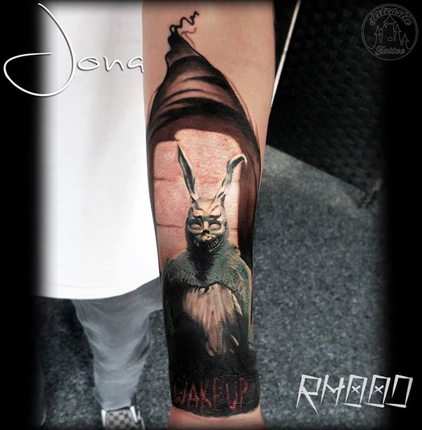 ArtCastleTattoo Tattoo ArtiestJona Realistic Donnie Darko piece Color