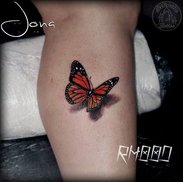 ArtCastleTattoo Tattoo ArtiestJona Realistic Monarch butterfly Color