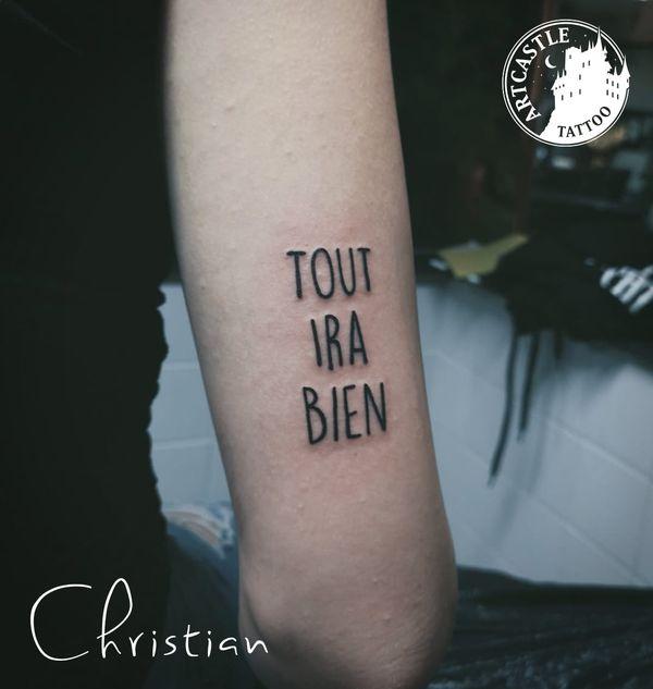 ArtCastleTattoo Tattoo ArtiestJona upper arm Lettering