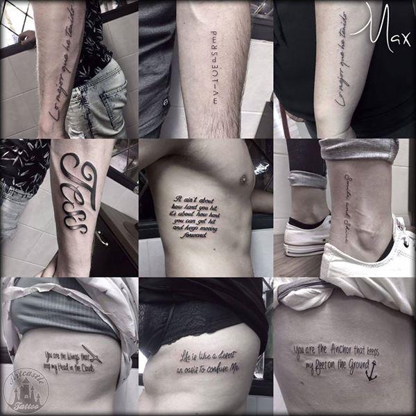 ArtCastleTattoo Tattoo ArtiestMax Lettering tattoos Lettering