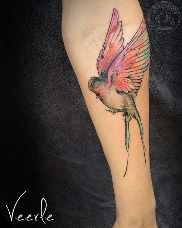 ArtCastleTattoo Tattoo ArtiestVeerle Bird tattoo Color