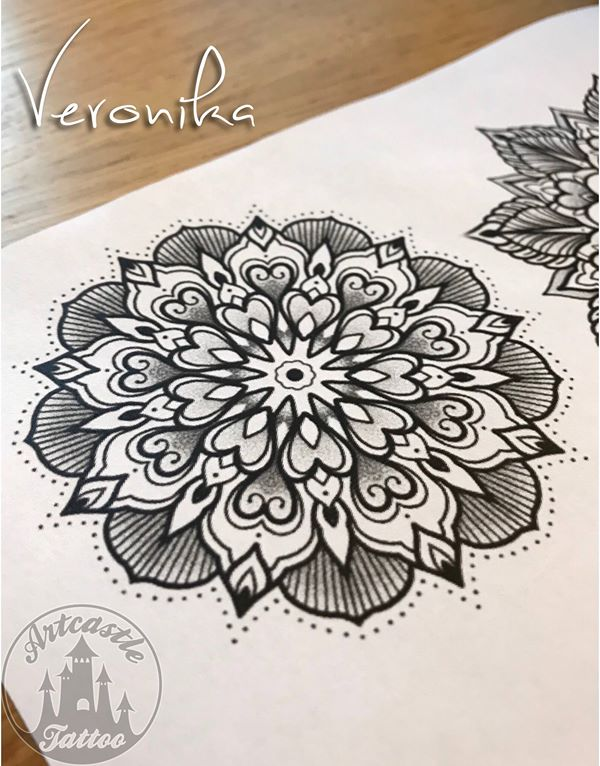ArtCastleTattoo Tattoo ArtiestVeronika Veronika wants to do these fun mandalas Shes offering a special deal on them if youre interested contact the shop