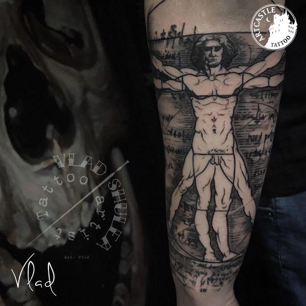 ArtCastleTattoo Tattoo ArtiestVlad realism lowerarm Black n Grey